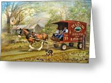 Rural Deliveries Greeting Card by Trudi Simmonds