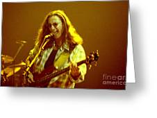 Rush92-geddy-a004 Greeting Card by Timothy Bischoff