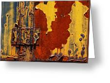 Rust Abstract Greeting Card by Jack Zulli