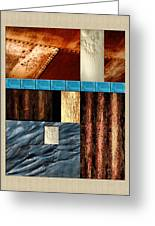 Rust And Rocks Rectangles Greeting Card by Elaine Plesser