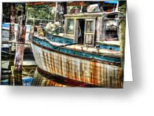 Rusted Wood Greeting Card by Michael Thomas