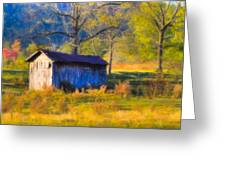 Rustic Autumn Landscape In North Georgia Greeting Card by Mark Tisdale