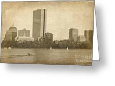 Rustic Boston Greeting Card by Jayne Carney