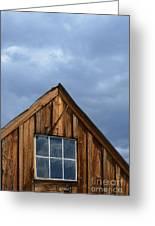 Rustic Cabin Window Greeting Card by Jill Battaglia