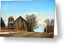 Rustic Country Barn Greeting Card by Christina Rollo