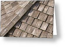 Rustic Rooftop Greeting Card by Ann Horn