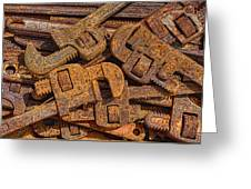 Rusting Wrenches Greeting Card by Robert Jensen