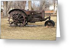Rusty Case Tractor Greeting Card by Steven Parker
