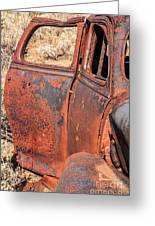 Rusty Doors Greeting Card by Sue Smith