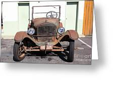 Rusty Old Ford Jalopy 5d24642 Greeting Card by Wingsdomain Art and Photography
