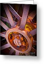 Rusty Spokes Greeting Card by Inge Johnsson