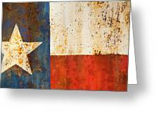 Rusty Texas Flag Rust And Metal Series Greeting Card by Mark Weaver