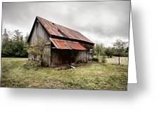 rusty tin roof barn Greeting Card by Gary Heller