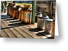 Rusty Western Cans 1 Greeting Card by Mel Steinhauer