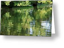 Rutland Water Reflection Greeting Card by Karin Ubeleis-Jones