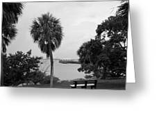 Ryckman House in Melbourne Beach Florida Greeting Card by Allan  Hughes