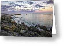 Rye Cliffs Greeting Card by Eric Gendron
