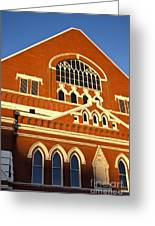Ryman Auditorium Greeting Card by Brian Jannsen