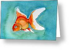 Ryukin Goldfish Greeting Card by Katherine Miller