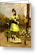 Sa Majeste La Parisienne Greeting Card by Alfred Stevens