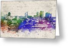 Sacramento City Skyline Greeting Card by Aged Pixel