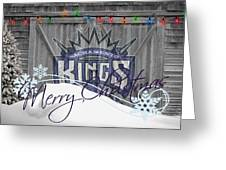 Sacramento Kings Greeting Card by Joe Hamilton