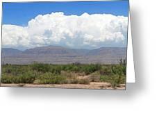 Sacramento Mountains Storm Clouds Greeting Card by Jack Pumphrey