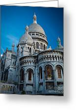 Sacre-coeur At Night Greeting Card by Inge Johnsson