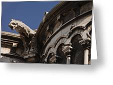 Sacre Coeur Gargoyle Greeting Card by Art Ferrier