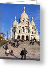 Sacre Coeur - Parisian Landmark Greeting Card by Mark Tisdale