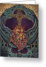Sacred Heart Greeting Card by Ricardo Chavez-Mendez