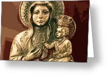 Sacred Icon Greeting Card by Patricia Januszkiewicz