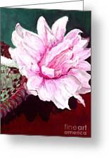 Sacred Pink Lotus Greeting Card by Mukta Gupta