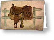 Saddle Up Greeting Card by Christy Brammer