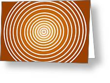 Saffron Colored Abstract Circles Greeting Card by Frank Tschakert