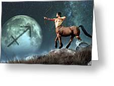 Sagittarius Zodiac Symbol Greeting Card by Daniel Eskridge