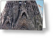 sagrada familia Barcelona Greeting Card by Nick Difi