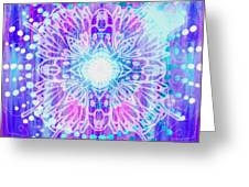 Sahasrara - Chakra 7 Greeting Card by Christine Louise Bryant