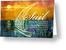 Sail Greeting Card by Evie Cook