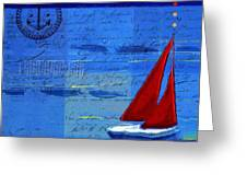 Sail Sail Sail Away - j173131140v5c2 Greeting Card by Variance Collections