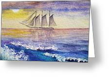 Sailboat in the Ocean Greeting Card by Irina Sztukowski