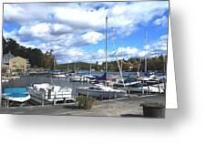 Sailboats On Sunapee Greeting Card by Will Boutin Photos