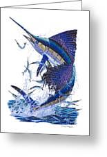 Sailfish Greeting Card by Carey Chen