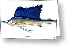 Sailfish Greeting Card by Charles Harden