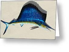 Sailfish Greeting Card by Diane Snider
