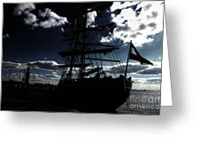 Sailing By Night Greeting Card by Four Hands Art
