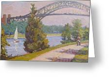 Sailing Cape Cod Canal Greeting Card by Dianne Panarelli Miller