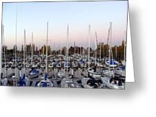 Sailing Club Marina Greeting Card by Dee  Savage