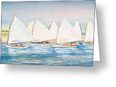 Sailing In The Summertime II Greeting Card by Michelle Wiarda