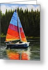 Sailing On Flathead Greeting Card by Kim Lockman